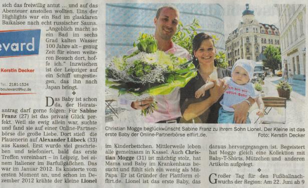 LVZ-Zeitungsausschnitt-elFlirt-Baby
